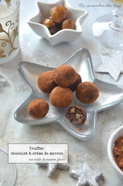 Truffes chocolat et crème de marron