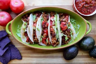 Tacos simplissimes au riz et haricots rouges