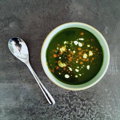 Velouté d'épinards curry coco