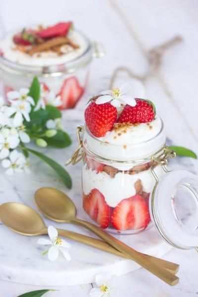 Tiramisu aux fraises et spéculoos
