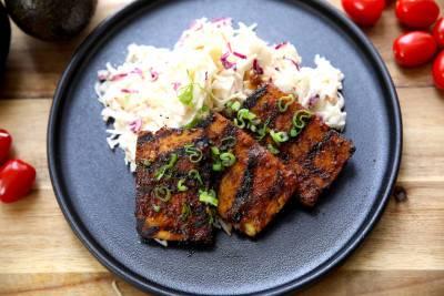Tofu mariné au BBQ