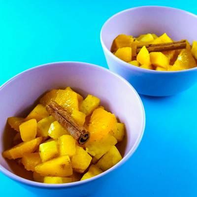 Salade de fruits exotiques à la cannelle