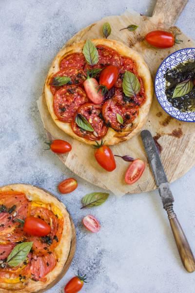 Tarte fine tomate basilic