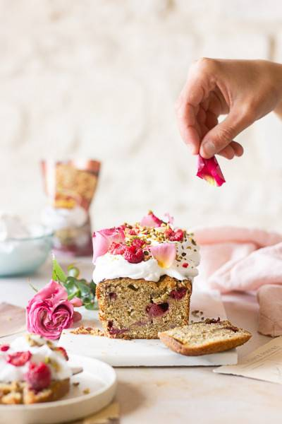 Cake framboise pistache