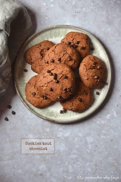 Cookies végans tout chocolat