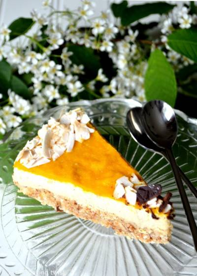 Cheesecake cru mangue-coco