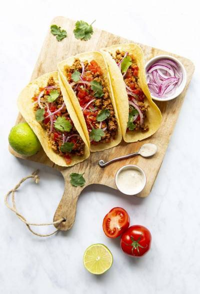 Tacos au haché végan