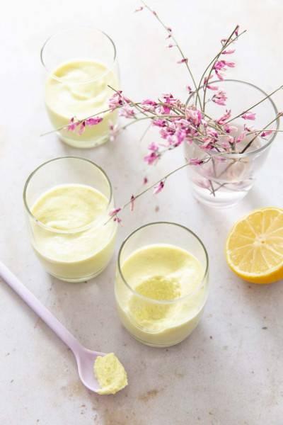 Mousse dessert crue et végane au citron