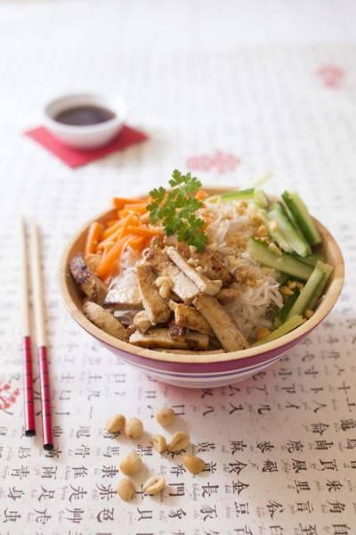 Bo bun au tofu mariné