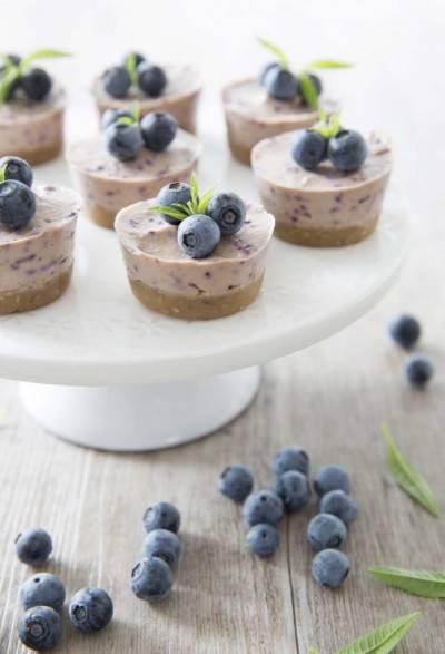 Cheesecake végan aux myrtilles