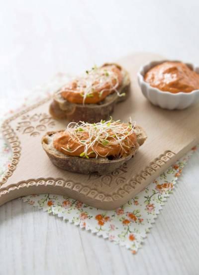 Tartinade poivron grillé noix de cajou