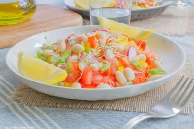 Salade de haricots blancs à la méditerranéenne