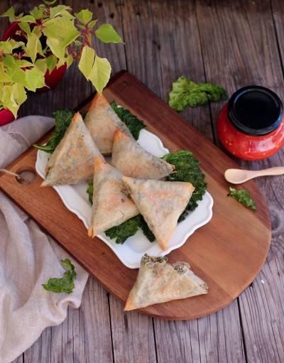 Samoussa épinard tofu