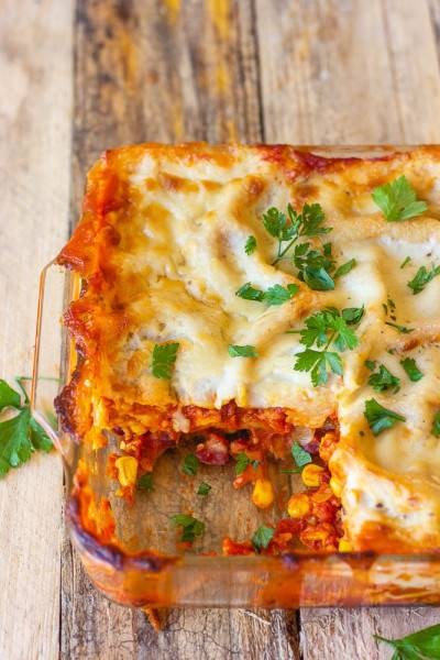 Lasagnes façon chili sin carne