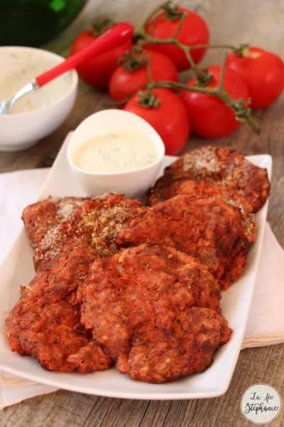 Beignets de tomates grecs cuits au four