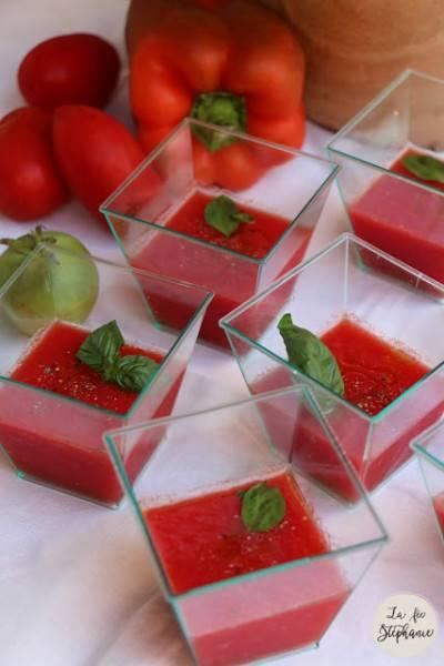 Gaspacho rouge et gaspacho vert