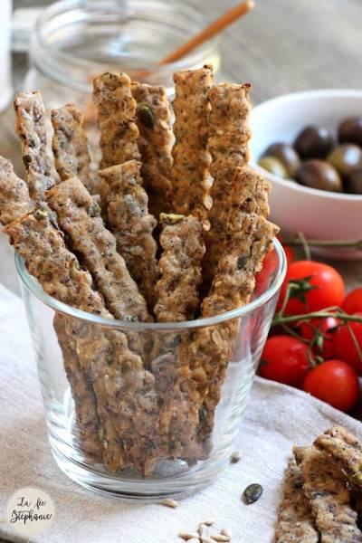 Gressins multi-céréales aux graines