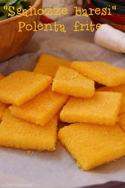 Sgagliozze : polenta frite de Bari
