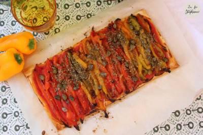 Tartelette de poivrons rôtis
