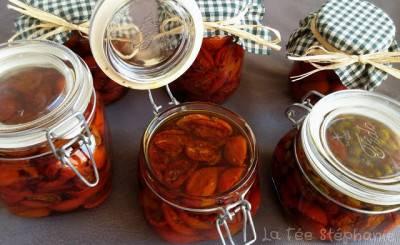 Tomates cerises confites à l'huile d'olive