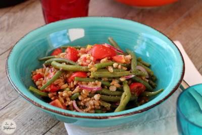 Salade d'épeautre et haricots verts