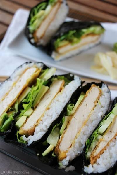 Onigirazu, le sushi sandwich au tofu pané