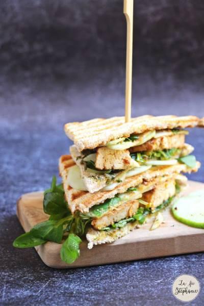 Club sandwich au tofu façon bacon