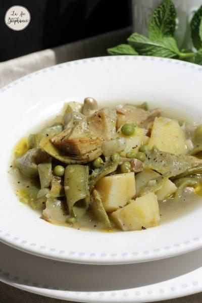 Soupe de légumes printaniers