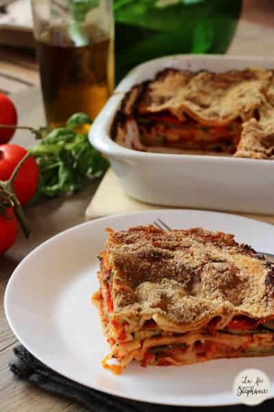 Lasagnes aux légumes d'été, sauce au pesto