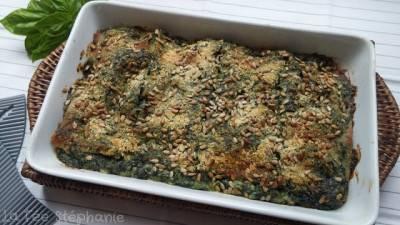 Lasagne blanche aux épinards et pesto
