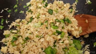 Riz cantonais au tofu