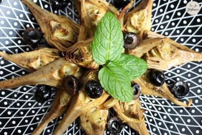 Petits artichauts grillés à l'huile d'olive