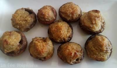 Champignons farcis à la crème d'artichaut