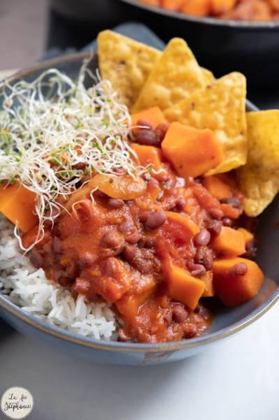 Chili de patates douces et haricots azuki