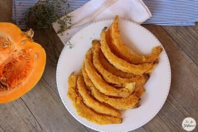 Frites de courge panée