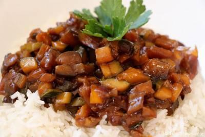 Poêlée de légumes sauce sucrée salée
