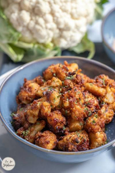 Nuggets de chou-fleur et sauce citronnée