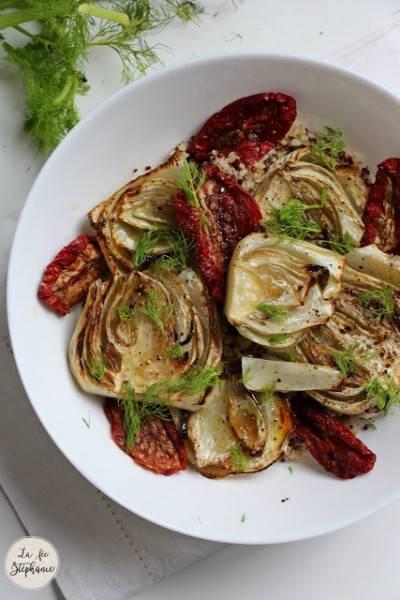 Fenouil rôti et tomates séchées