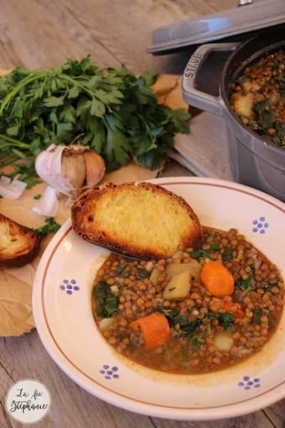 Soupe de lentilles à l'italienne