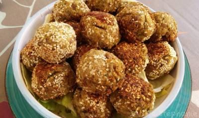 Boulettes de lentilles brunes au sésame, sans gluten