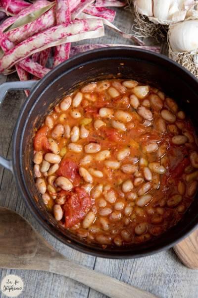 Cocotte de haricots coco frais à la tomate