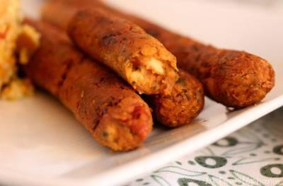 Saucisses véganes à l'italienne
