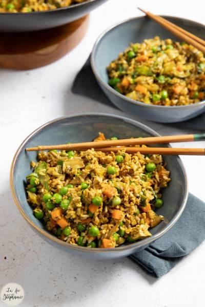 Riz frit chinois au tofu