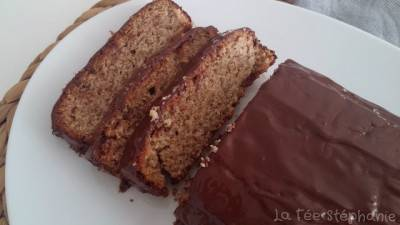 Cake au citron à la farine de sarrasin, nappage chocolat