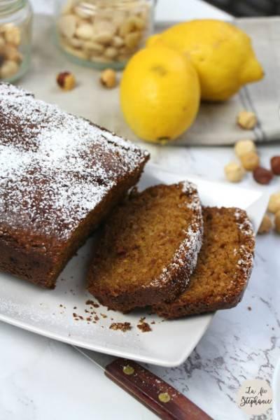 Cake végan aux noisettes et amandes