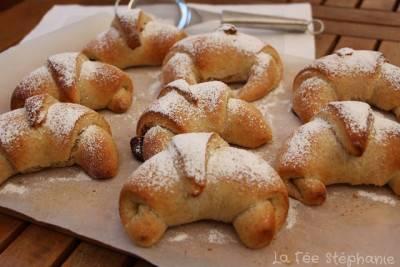 Croissants à la farine complète et cœur de noisettes
