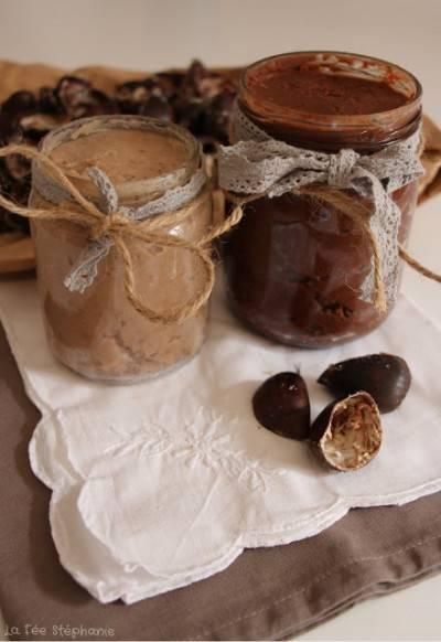 Crème de châtaignes nature ou au chocolat