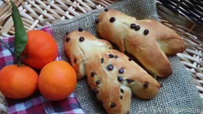 Mannalas végans ou petits pain au lait et chocolat
