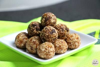 Energy balls de flocons d'avoine aux dattes
