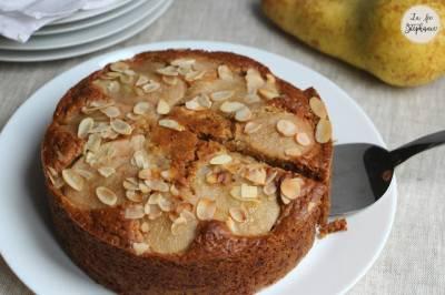 Gâteau aux poires sans œufs ni beurre